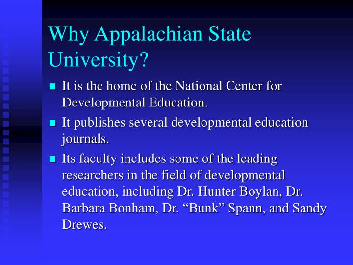 Why appalachian state university