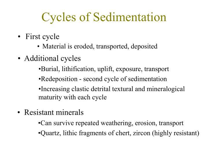 Cycles of Sedimentation