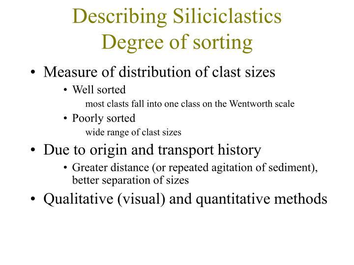 Describing Siliciclastics
