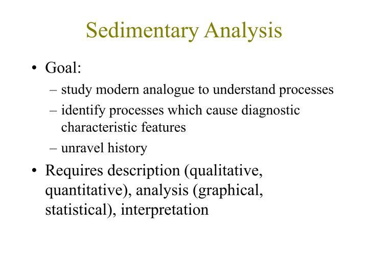 Sedimentary Analysis