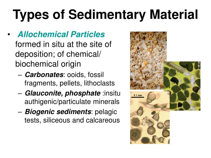 Types of Sedimentary Material