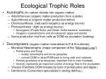 ecological trophic roles