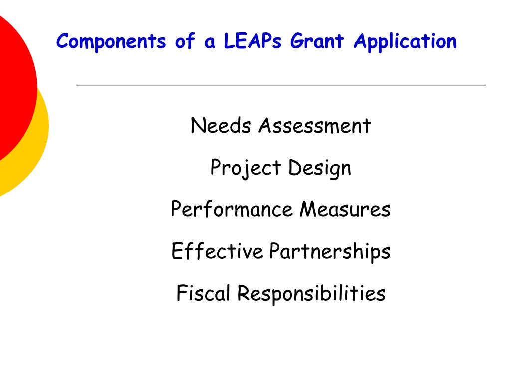 Components of a LEAPs Grant Application