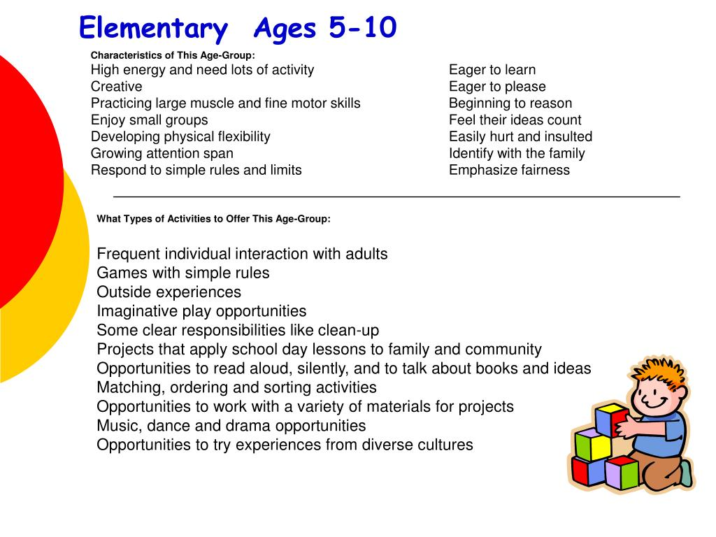 Elementary  Ages 5-10