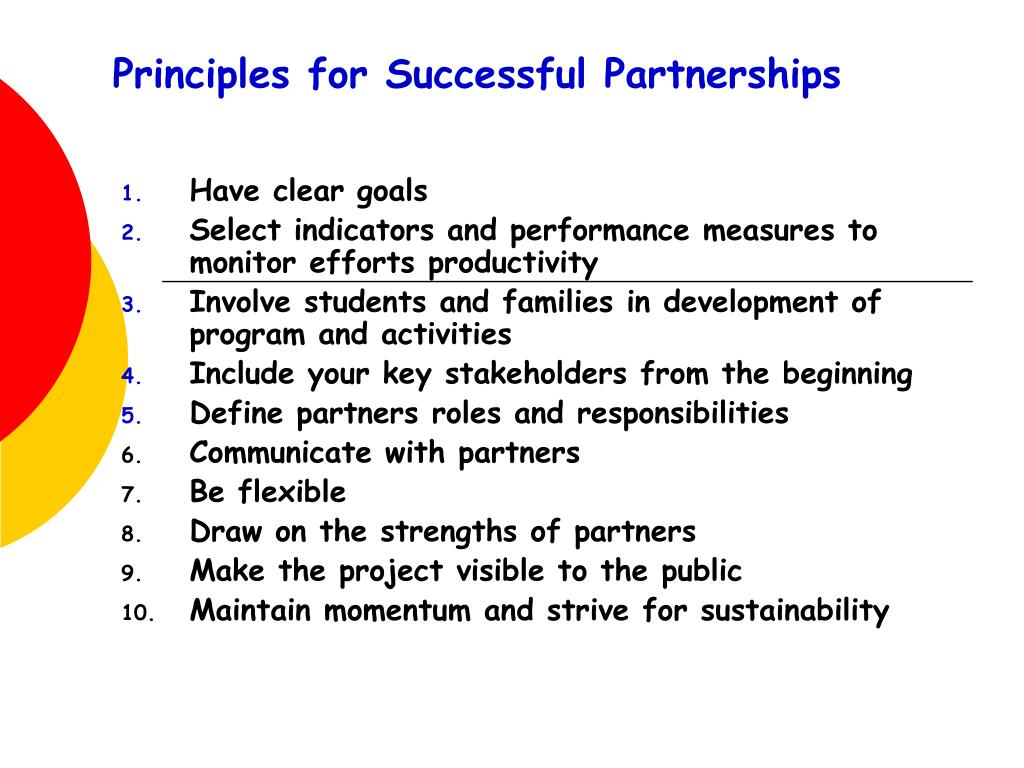 Principles for Successful Partnerships