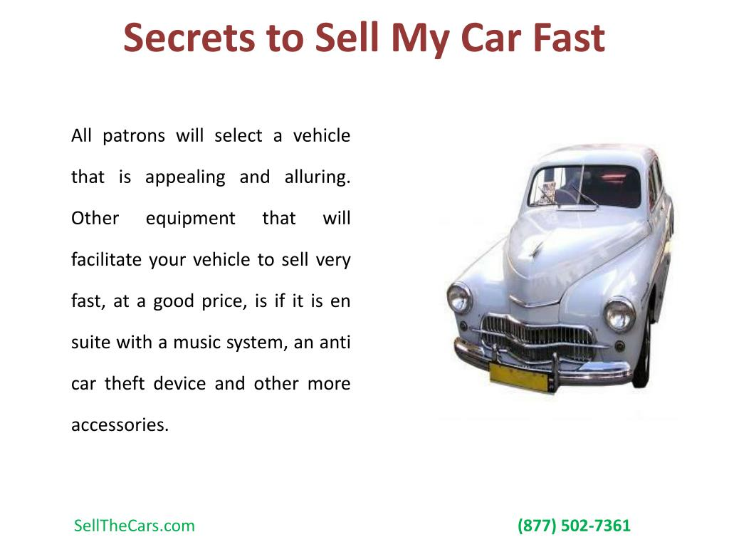 Secrets to Sell My Car