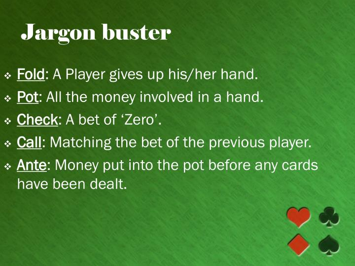Jargon buster