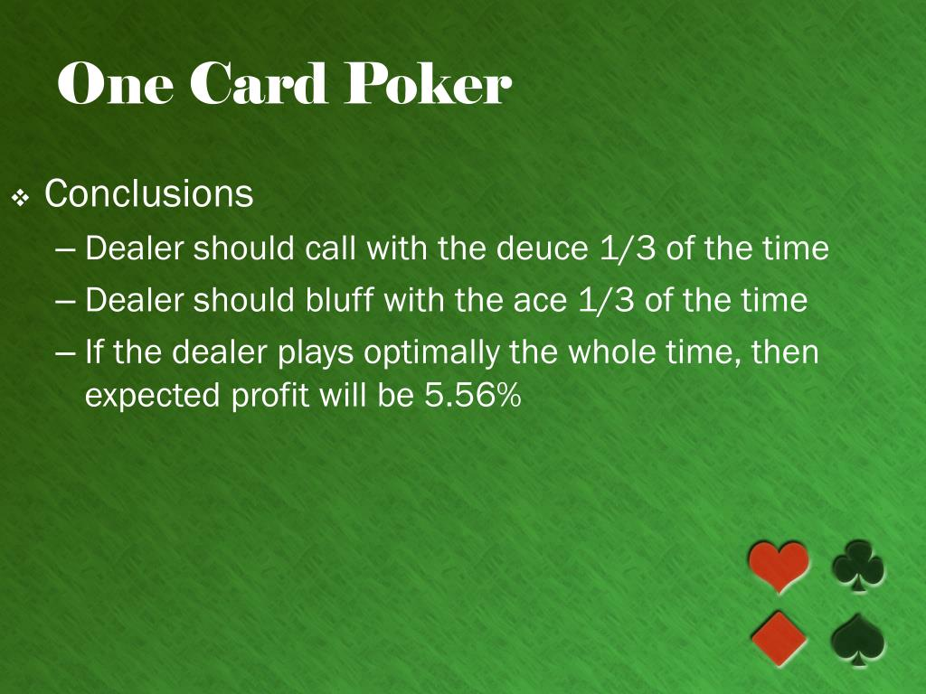 One Card Poker