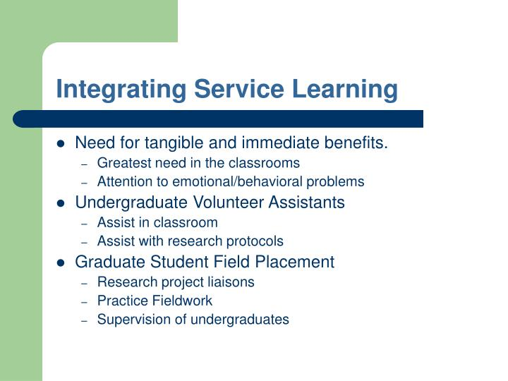 Integrating Service Learning