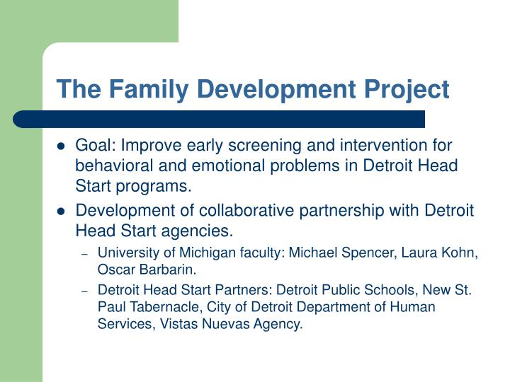 The family development project
