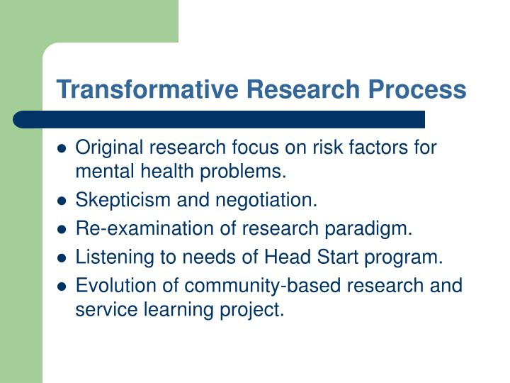 Transformative Research Process