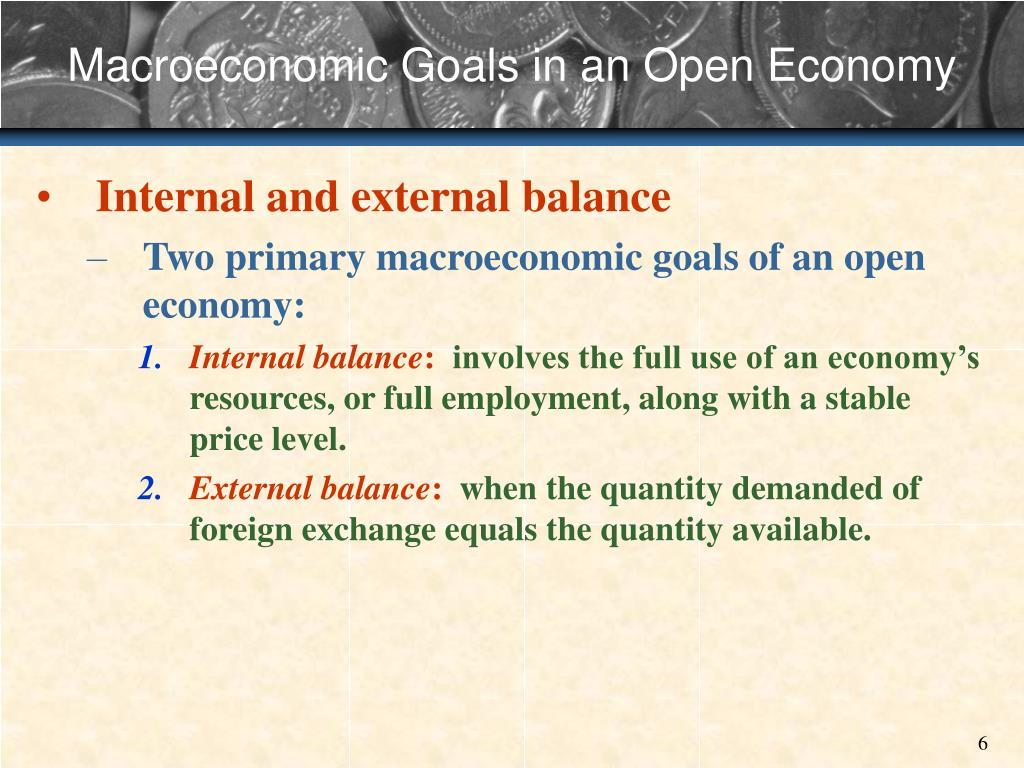 Macroeconomic Goals in an Open Economy
