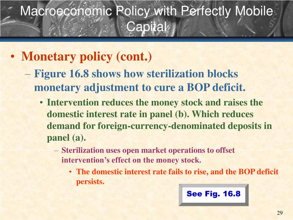 Macroeconomic Policy with Perfectly Mobile Capital