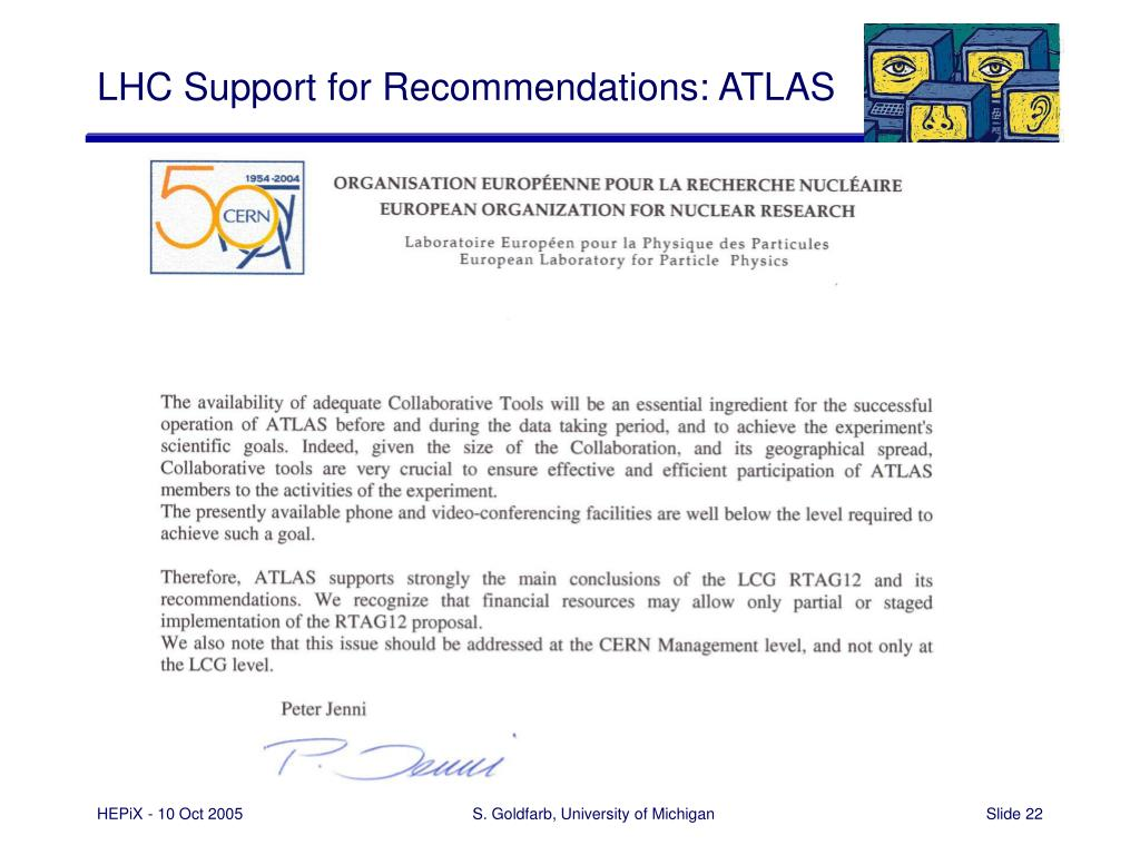 LHC Support for Recommendations: ATLAS