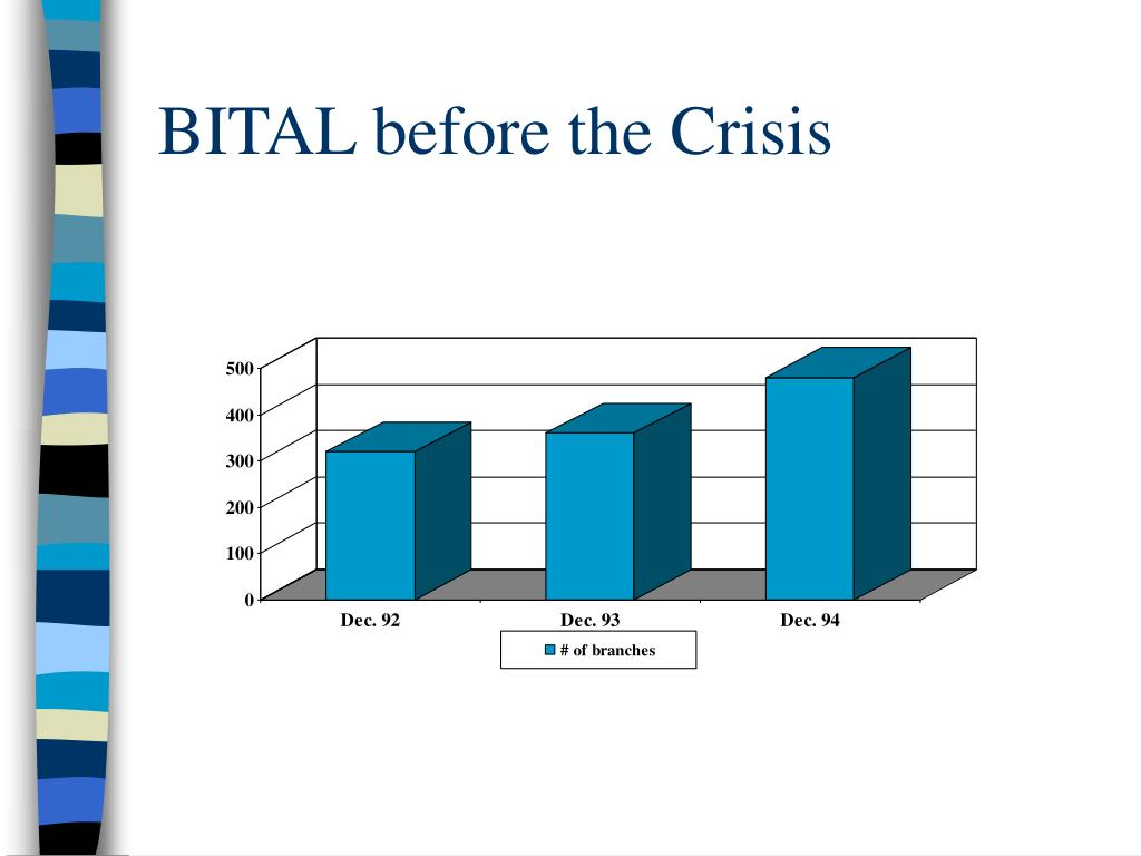 BITAL before the Crisis