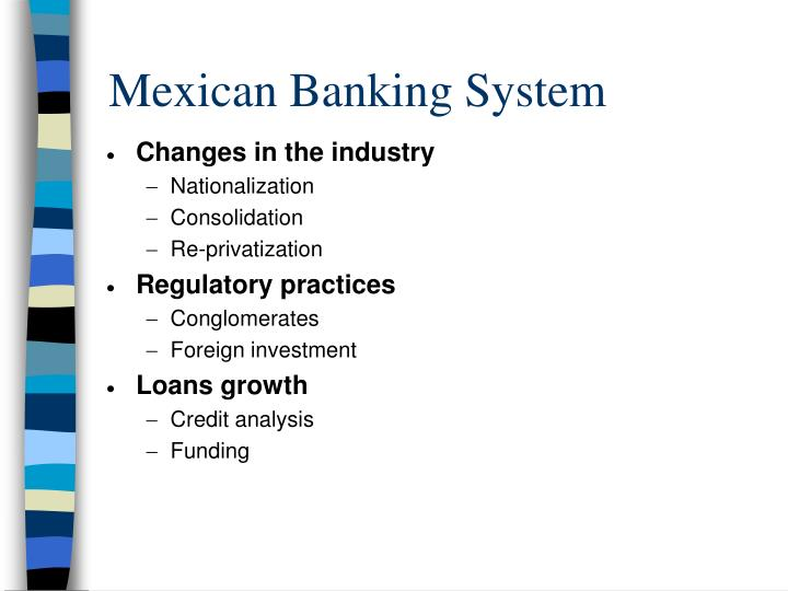 Mexican banking system