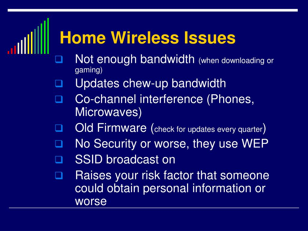 Home Wireless Issues