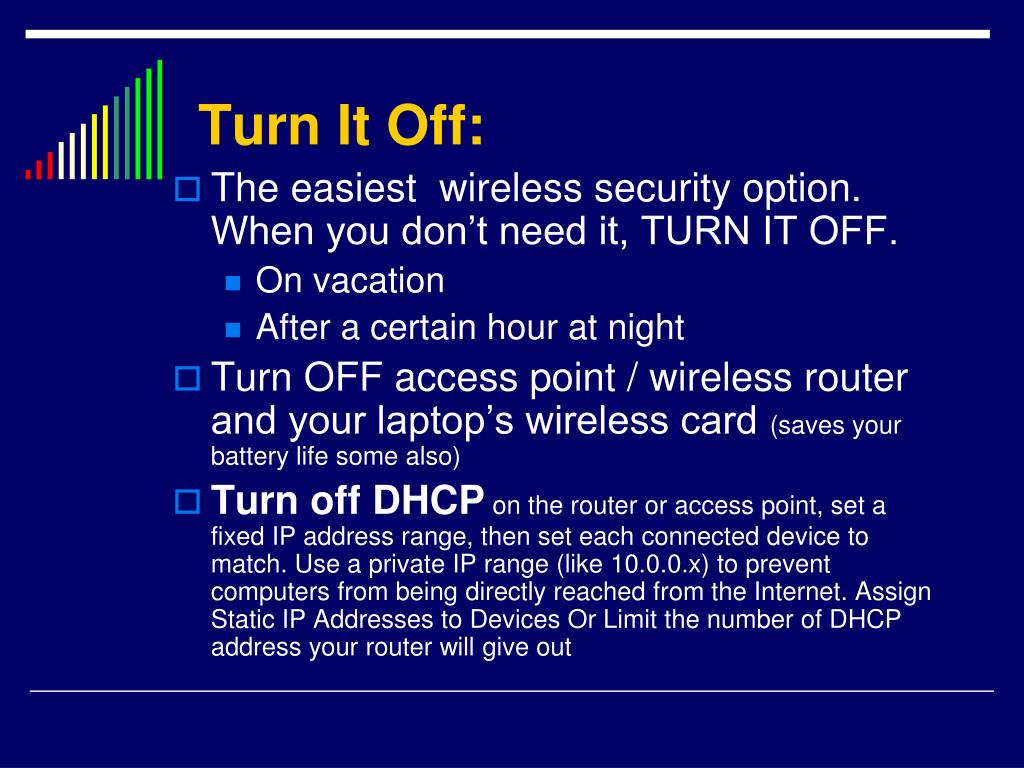 Turn It Off: