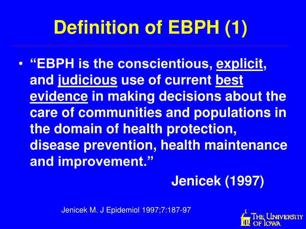 Definition of EBPH (1)