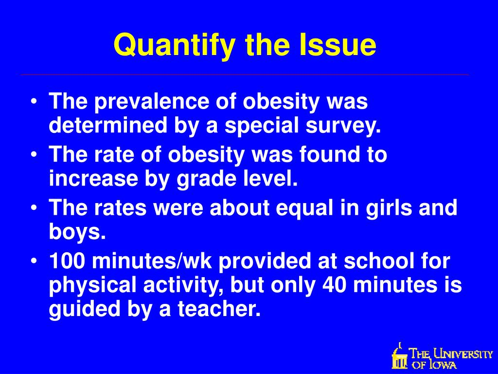 Quantify the Issue