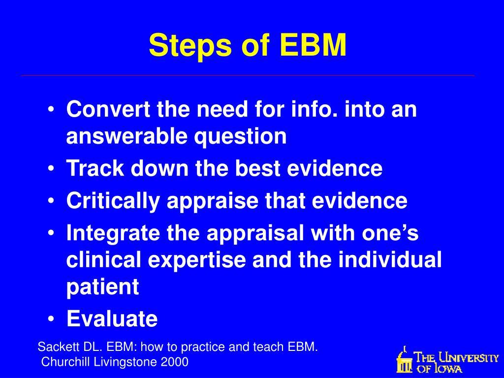 Steps of EBM