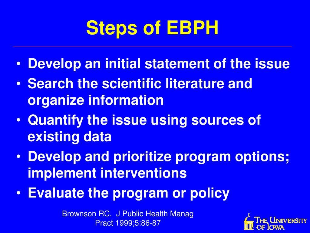 Steps of EBPH