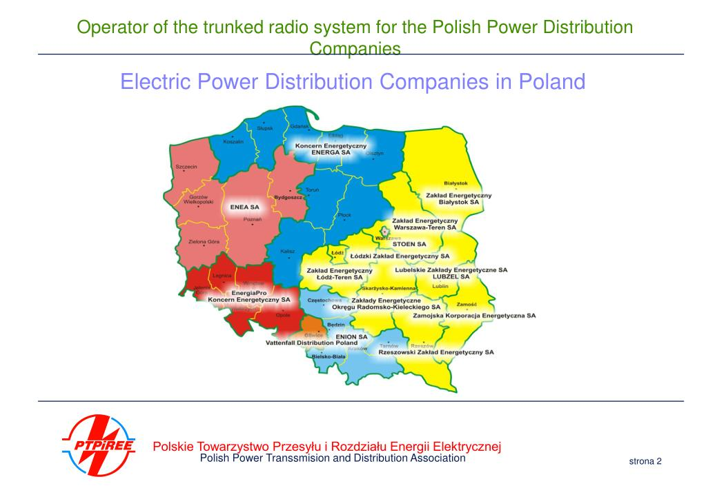 Electric Power Distribution Companies in Poland