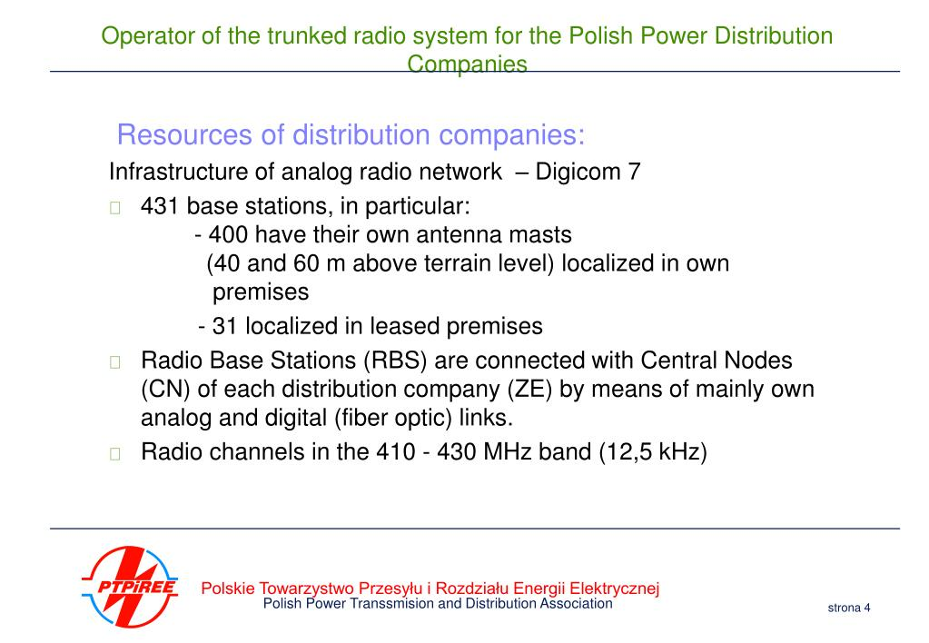 Resources of distribution companies: