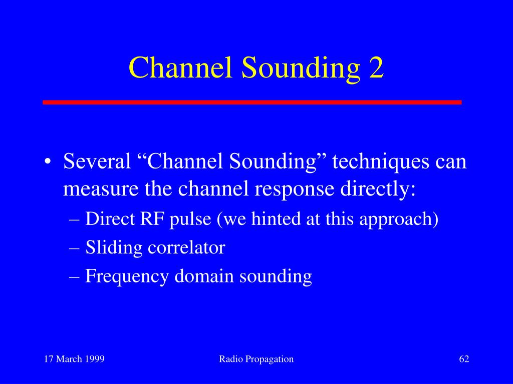 Channel Sounding 2