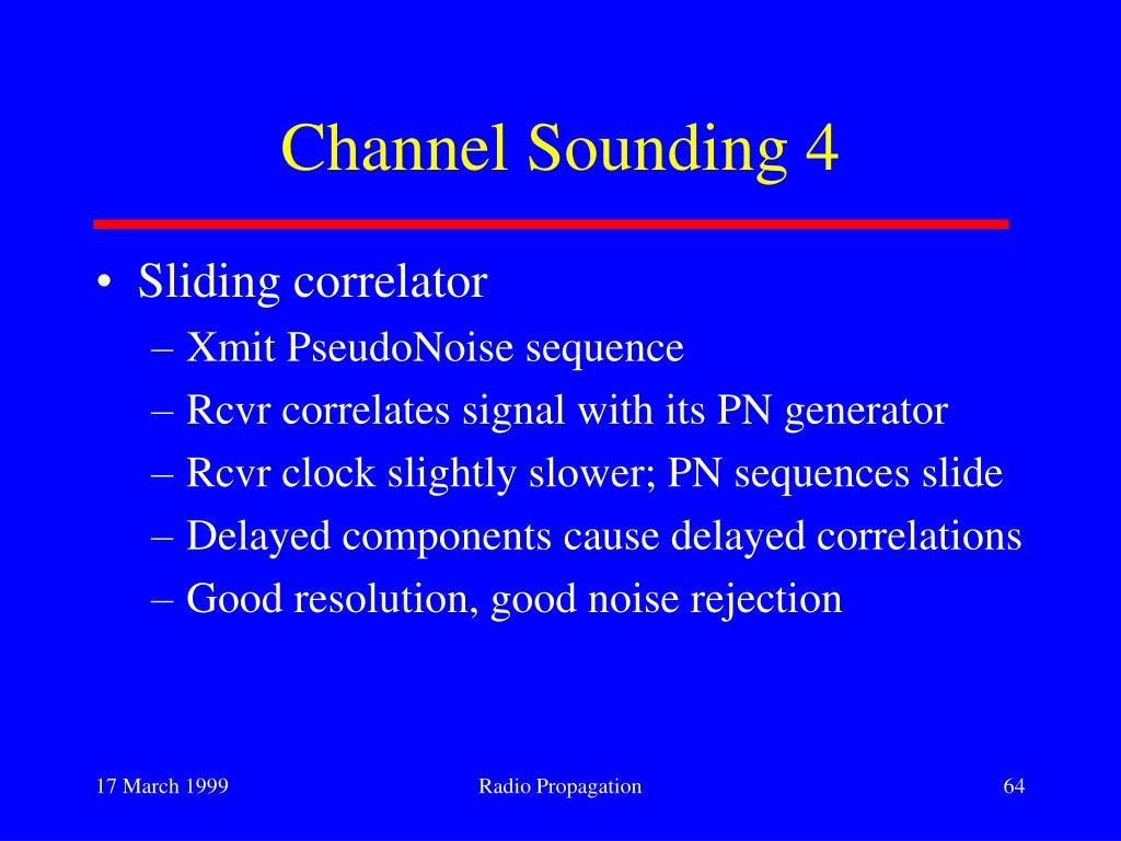 Channel Sounding 4
