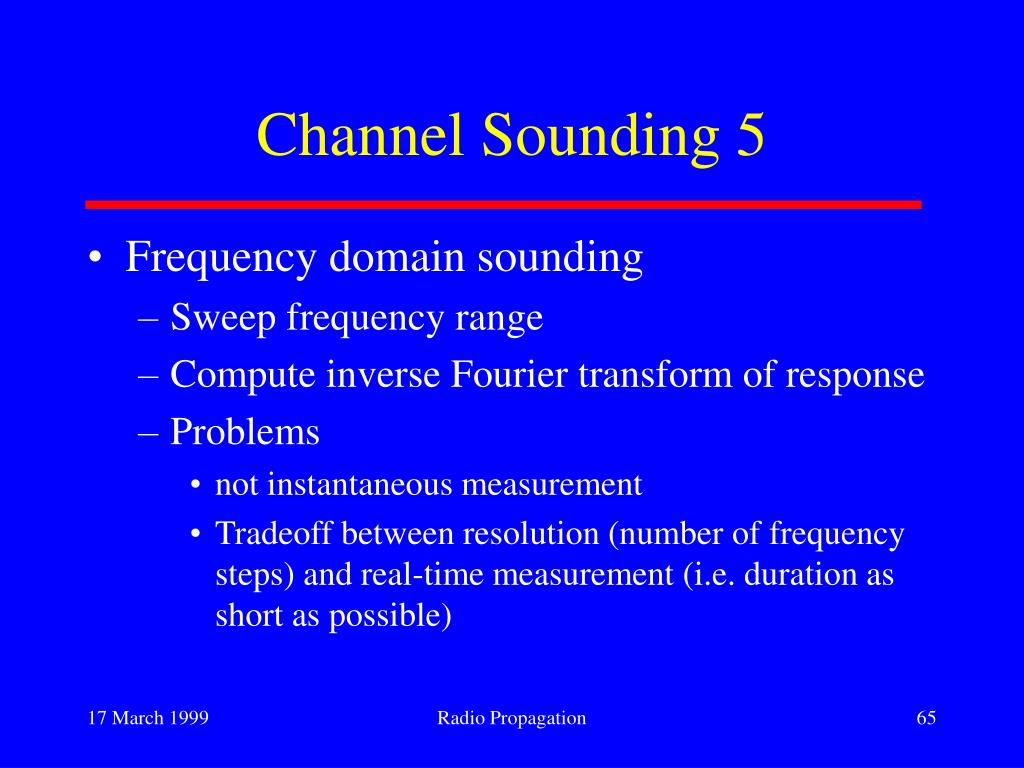 Channel Sounding 5