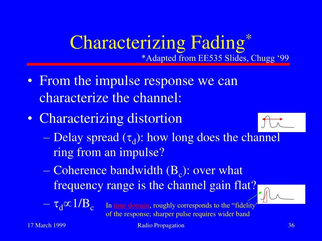 Characterizing Fading