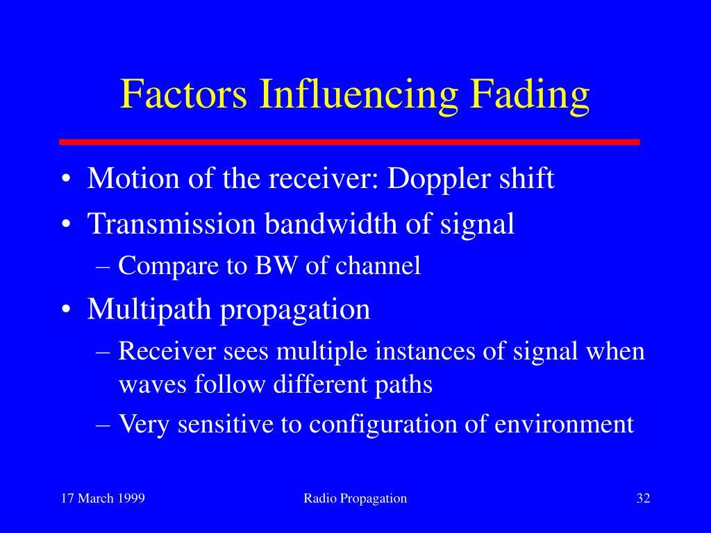 Factors Influencing Fading