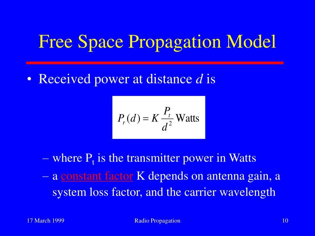 Free Space Propagation Model