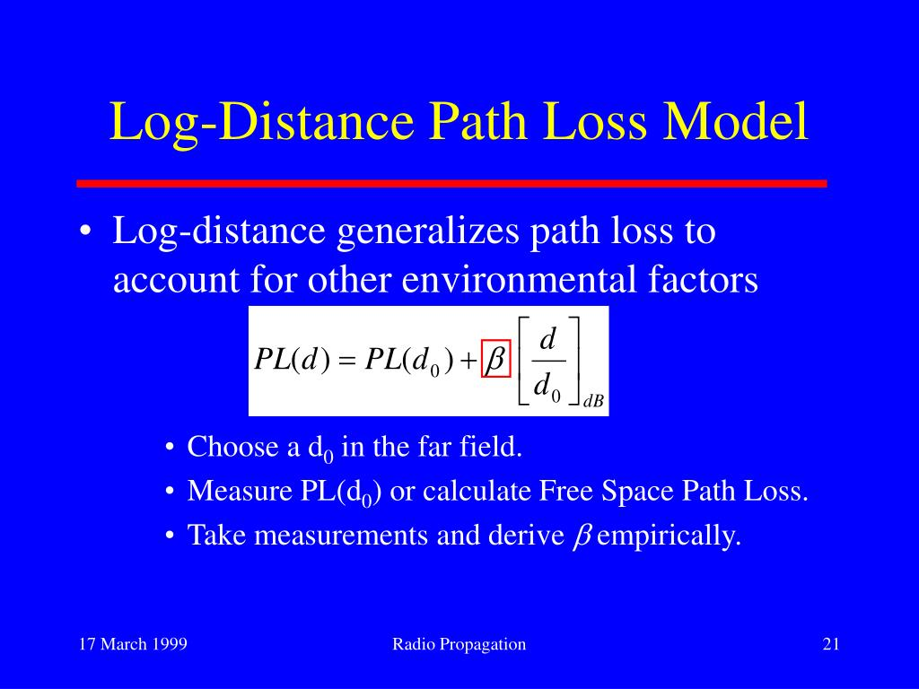 Log-Distance Path Loss Model