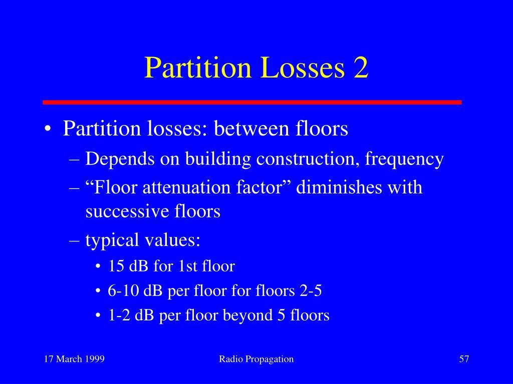 Partition Losses 2