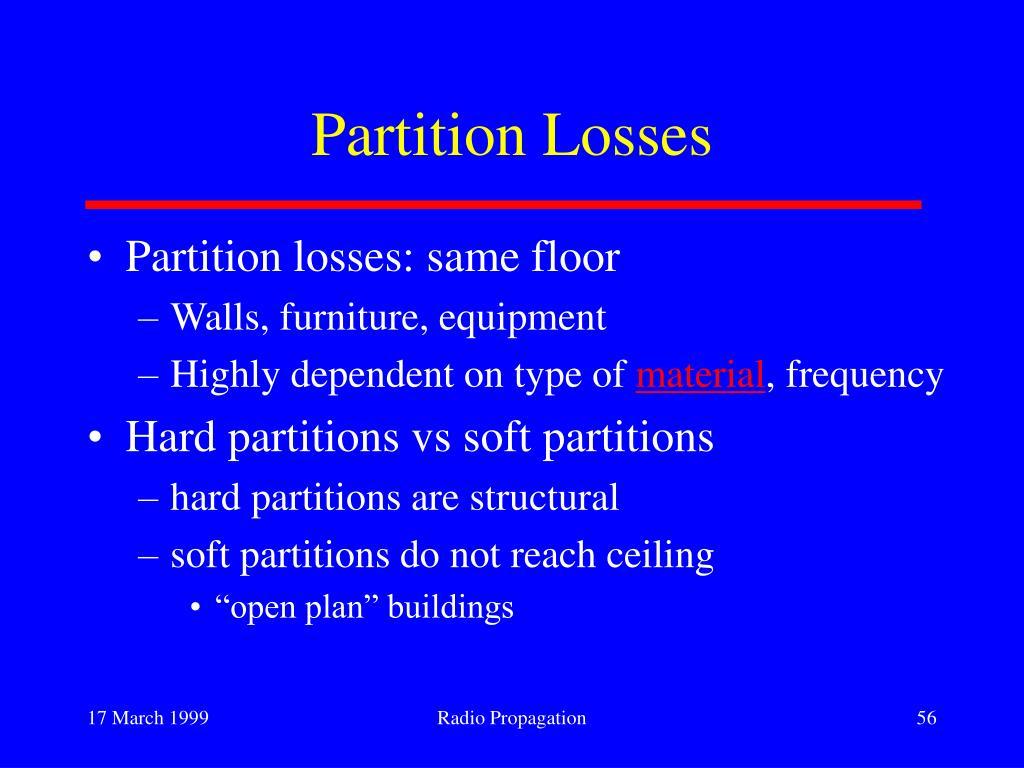 Partition Losses
