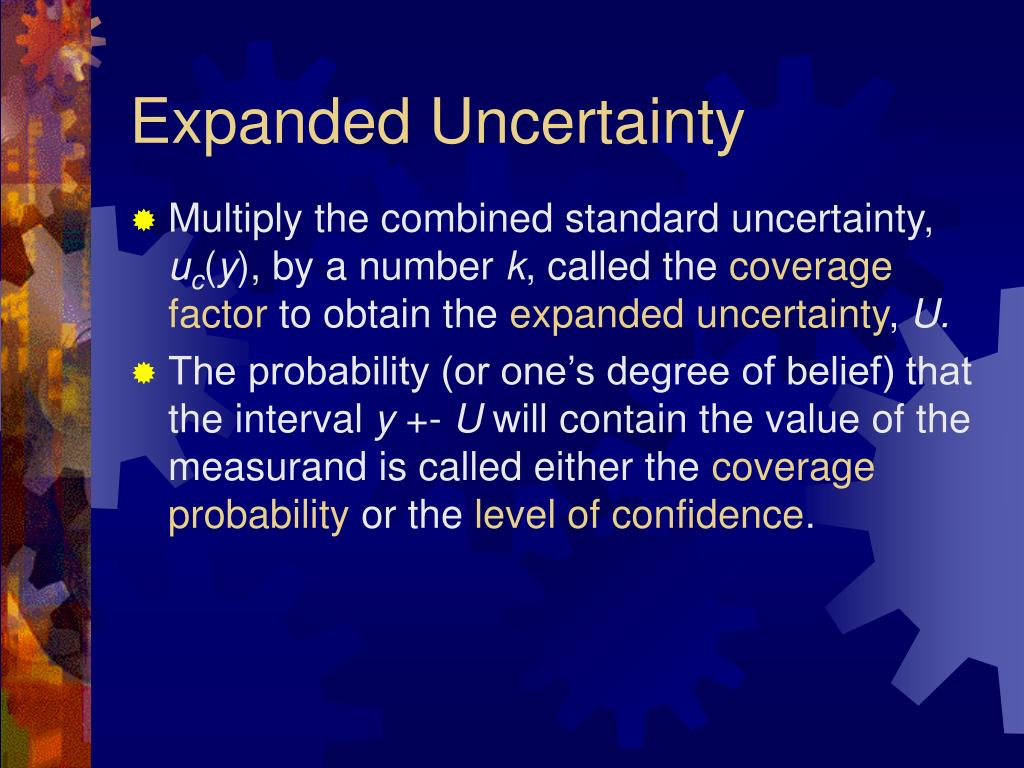 Expanded Uncertainty