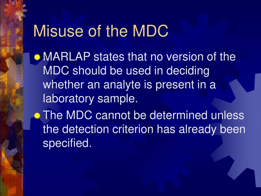 Misuse of the MDC