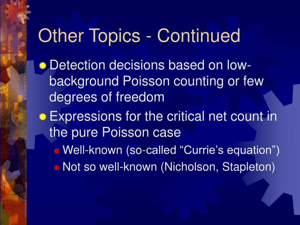 Other Topics - Continued