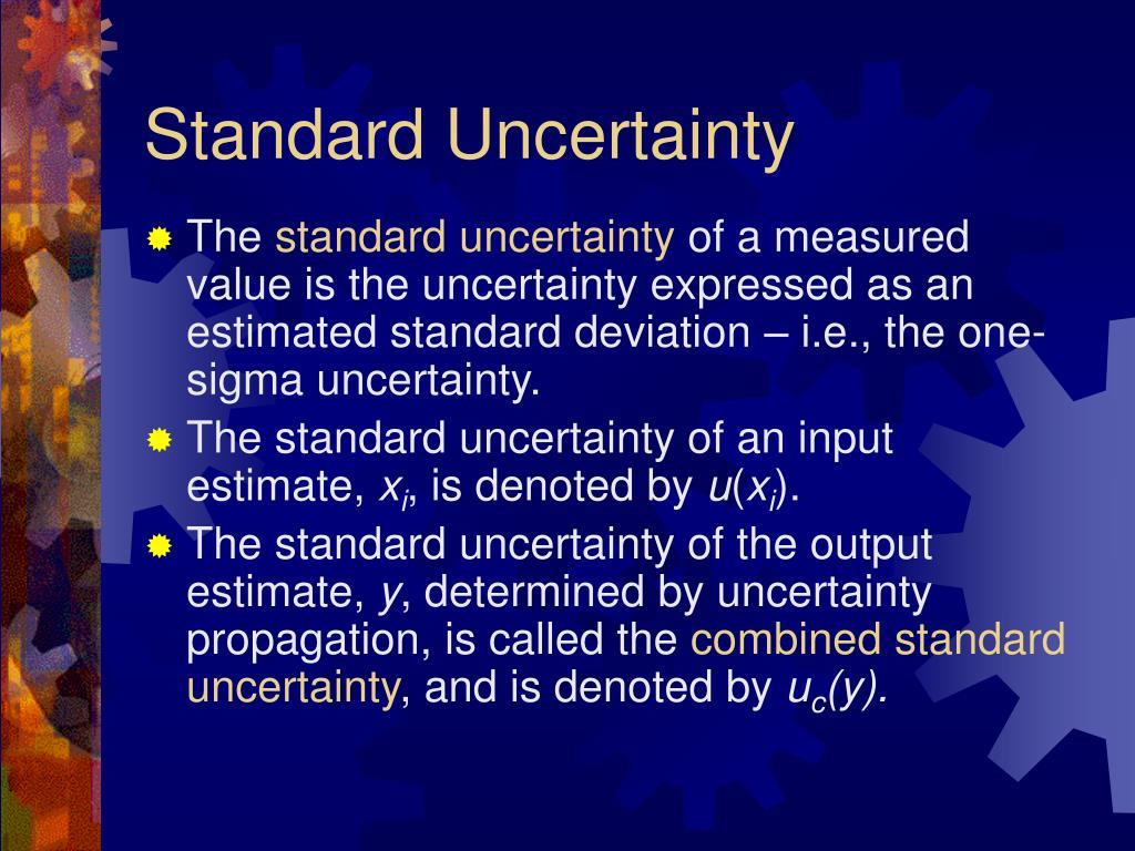 Standard Uncertainty