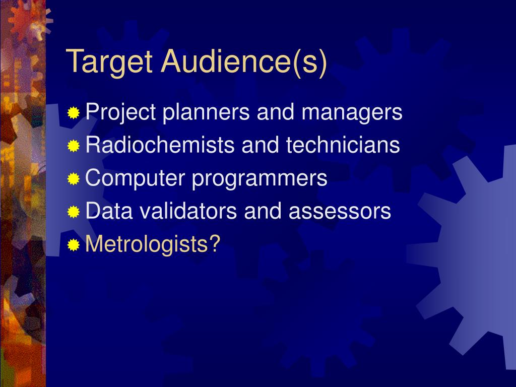 Target Audience(s)