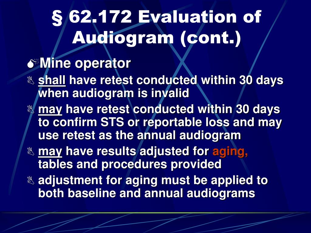 § 62.172 Evaluation of Audiogram (cont.)