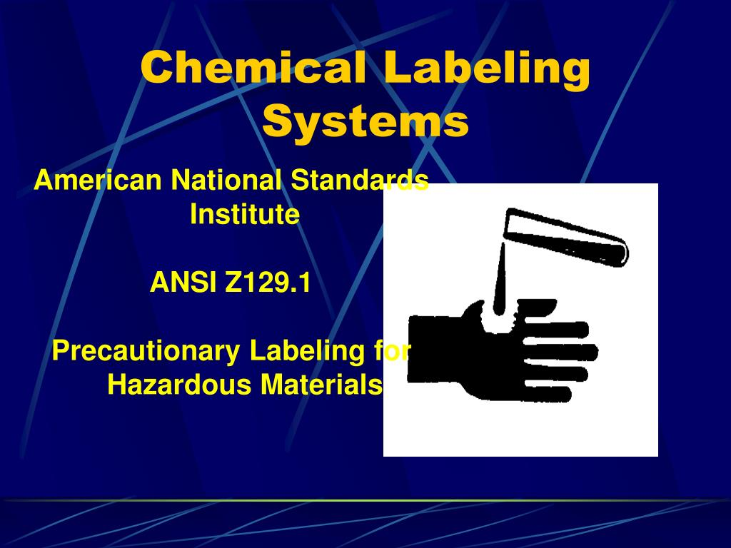 Chemical Labeling Systems