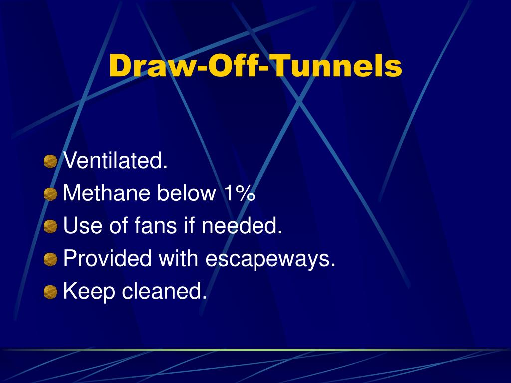 Draw-Off-Tunnels