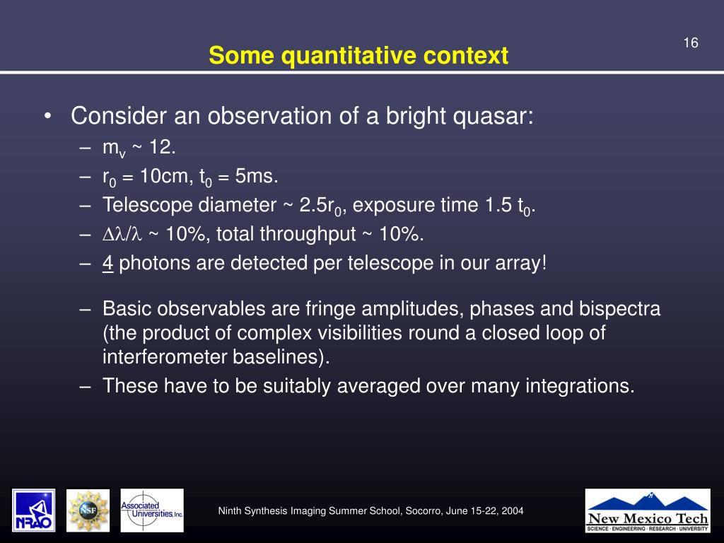 Some quantitative context