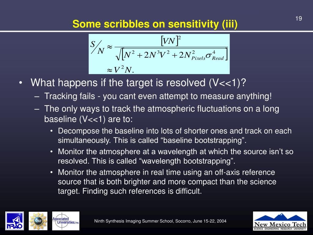 Some scribbles on sensitivity (iii)