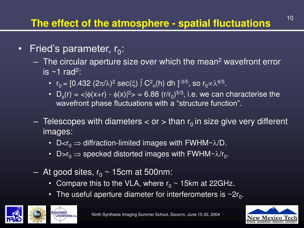 The effect of the atmosphere - spatial fluctuations