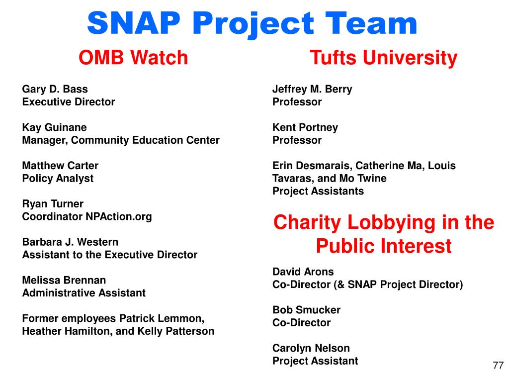 SNAP Project Team