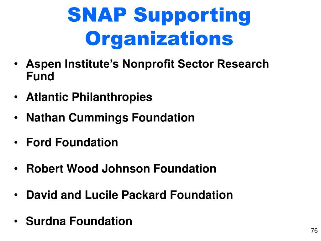 Aspen Institute's Nonprofit Sector Research Fund